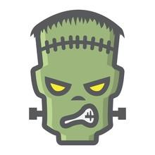 Frankenstein Filled Outline Ic...
