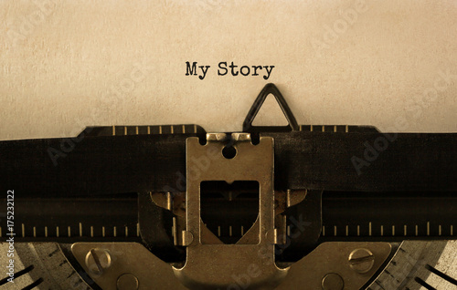 Text My Story typed on retro typewriter Canvas Print