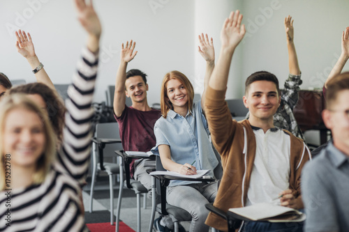 Students Rising Hands to Answer The Question