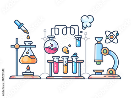 Fotografie, Obraz  Chemical scientific experiment