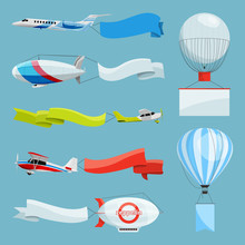 Zeppelins And Airplanes With E...