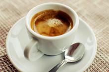 A Cup Of Freshly Prepared Espr...