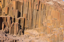 """Column Shaped Volcanic Rock Formation Known As """"organ Pipes"""" In Damaraland, Namibia. Like Giant Causeway In Ireland."""