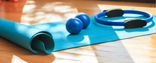 Yoga Mat And Exercise Weights ...