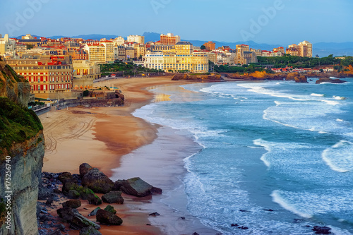 Biarritz city and its famous sand beaches, France Obraz na płótnie