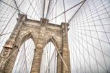 Fototapeta Nowy Jork - New York, view of the Brooklyn Bridge