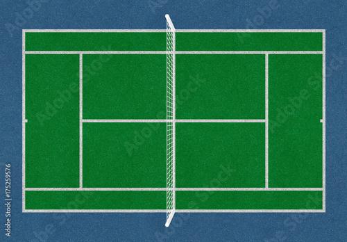 Tennis field. Tennis green court. Top view. Isolated. Sports mesh Tapéta, Fotótapéta