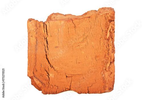 Papiers peints Half old red brick on white background