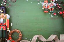 Vintage Green Wood Christmas H...