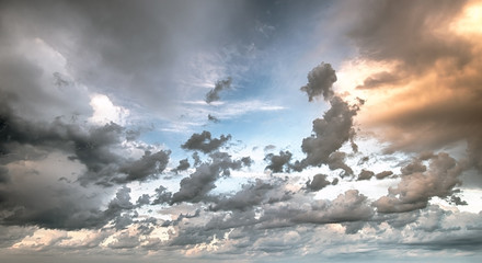 FototapetaSky clouds art sunrise background
