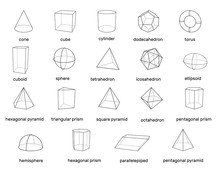 Basic 3d Geometric Shapes. Iso...