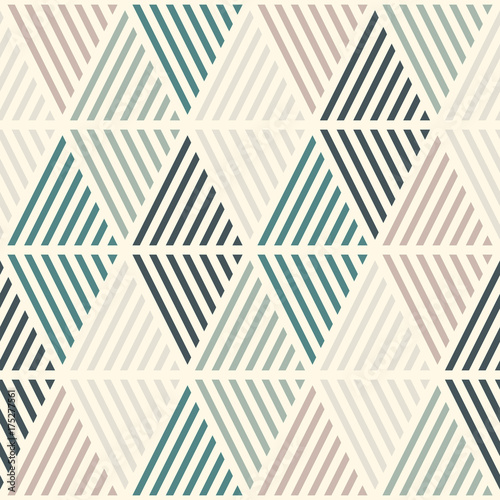 Seamless Pattern With Hatched Diamonds Argyle Wallpaper Rhombuses And Lozenges Motif Repeated Geometric