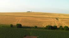 Crop Fields In Maine, Aerial