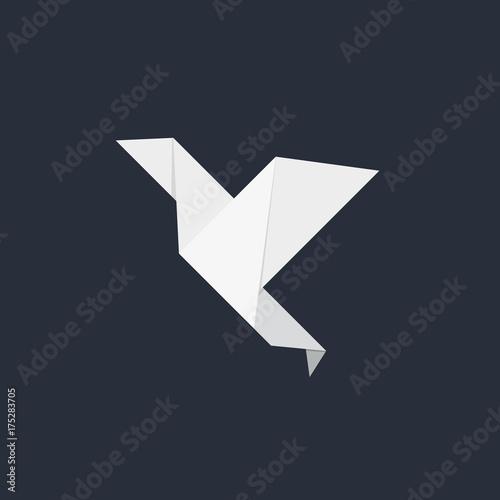 Poster Geometrische dieren Origami Paper Bird Icon