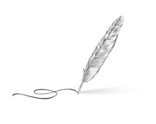 Feather Pen Icon. Calligraphy ...