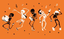 Vector Orange Dancing And Musi...