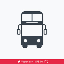 Bus (Double Decker) Icon / Vec...