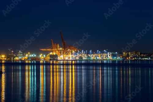 Plakat Port Vancouver BC Błękitna godzina Kanada