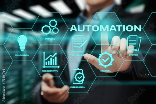 Automation Software Technology Process System Business concept Wallpaper Mural