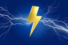 Thunder Lighting Bolt Symbol I...