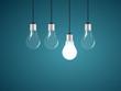 Llightbulb as symbol of idea. Vector illustration.