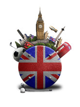 England, The Icon With The British Flag And Sights