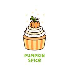 Pumpkin Spice Cupcake With Whi...