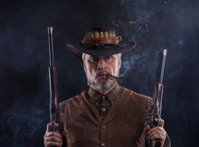 Wild West, Cowboy With Weapons