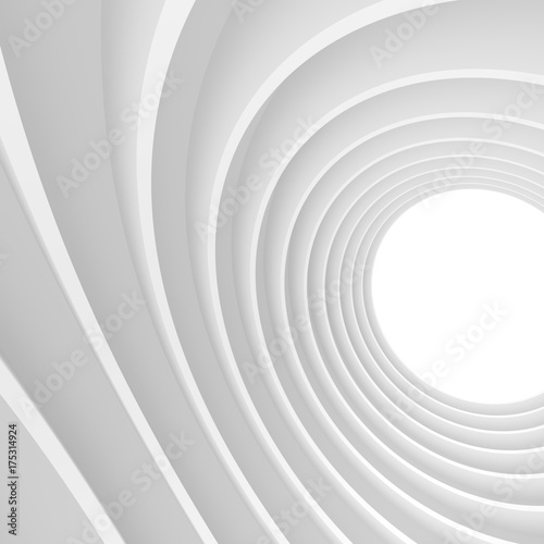 Plakat Tapeta streszczenie technologii. Tło białe tunelu