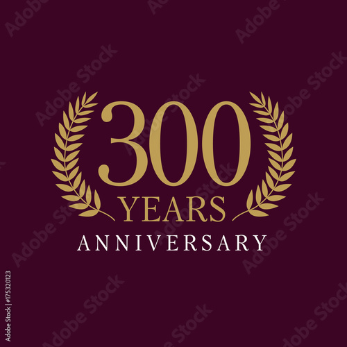 Poster  300 years anniversary royal logo