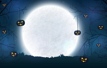 Spooky Night Background For Ha...