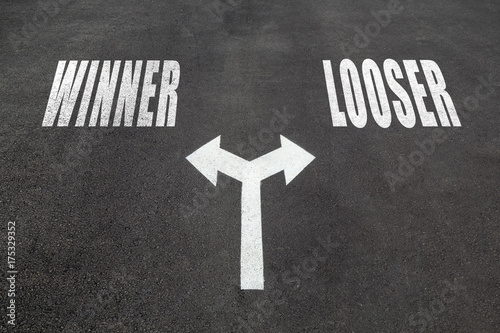Fotografia, Obraz Winner or looser choice concept