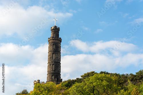 Obraz na dibondzie (fotoboard) Pomnik Nelsona na wzgórzu Calton w Edynburgu