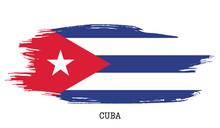 Cuba Flag Vector Grunge Paint ...