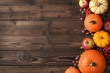 canvas print picture - Autumn harvest on wooden table