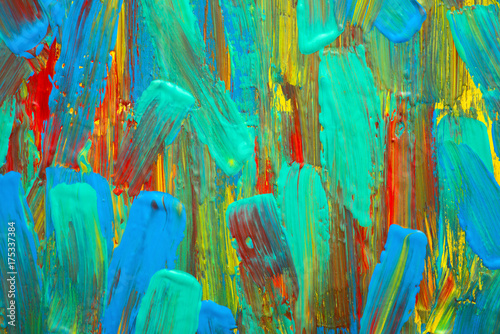 Fotobehang Paradijsvogel Abstract art background. Hand-painted