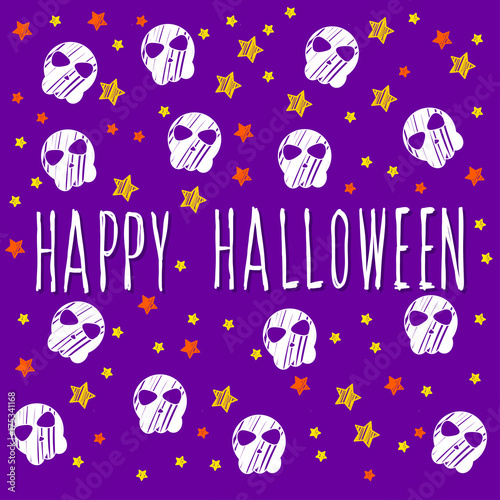 Happy Halloween Card Template Abstract Pattern And