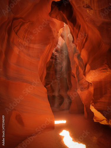 Printed kitchen splashbacks Brown The dream landscape of magnificent Upper Antelope Canyon near Page (Arizona, USA)