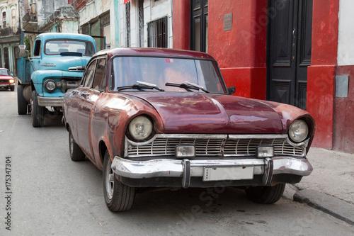 Garden Poster Cars from Cuba Oldtimer auf Kuba (Karibik)