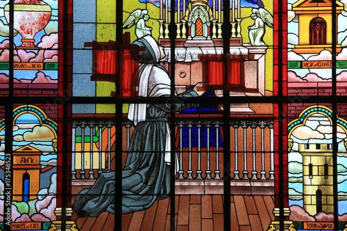 Photo  Apparition de la Vierge à Bernadette Soubirous