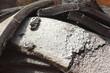 Bauschutt, Reste einer Straßendecke, Asphalt