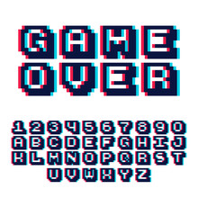 3d Pixel Video Game 8 Bit Font...