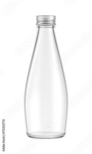 Glass bottle isolated on white background, 3D rendering