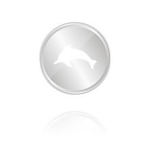 Delfin - Silber Münze Mit Ref...