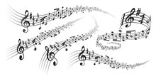Vector Musical Score Decorations