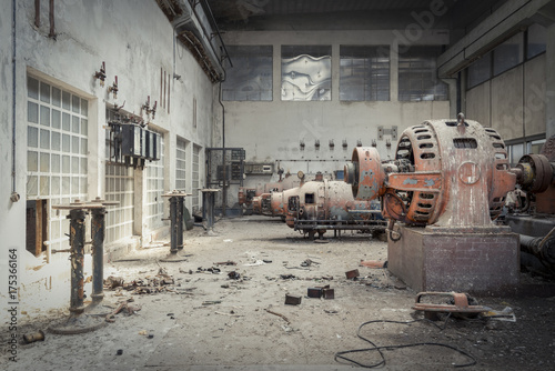 Photo Stands Old abandoned buildings Factory Hall
