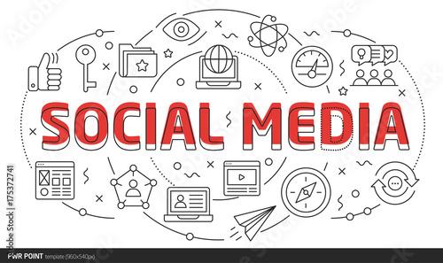 Lines Template Ilration Social Media