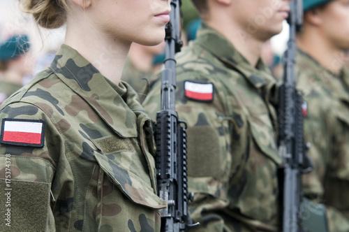 Fotografie, Obraz  polish soldiers
