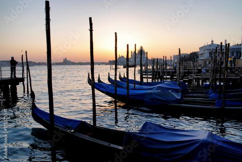 Plakat gondole Wenecji we Włoszech