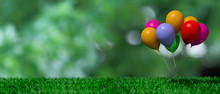 Group Of Colorful Balloons On ...